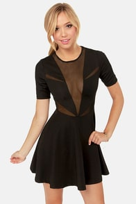 Lucca Couture Zip Your Lips Cutout Black Dress at Lulus.com!
