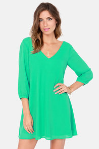 Get Weave-en Sea Green Shift Dress at Lulus.com!