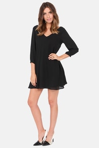 Get Weave-en Black Shift Dress at Lulus.com!