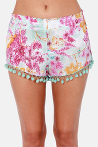 Billabong Sea You Soon Floral Print Shorts at Lulus.com!
