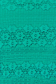 Volcom Remind Me Teal Lace Dress at Lulus.com!
