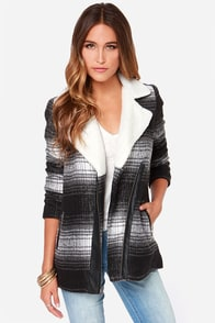 Jack by BB Dakota Aliso Black and Grey Coat at Lulus.com!