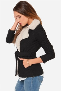 Jack by BB Dakota Smith Beige and Black Coat at Lulus.com!