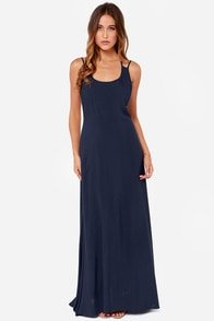 LULUS Exclusive All About You Navy Blue Maxi Dress at Lulus.com!