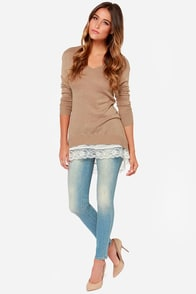Nine to Five Brown Sweater Top at Lulus.com!