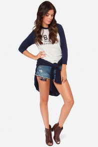 White Crow Hope Distressed Cutoff Jean Shorts at Lulus.com!