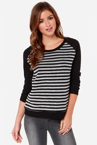 Jack by BB Dakota Liberty Black and Ivory Sweater at Lulus.com!