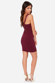 Heart Full of Soul Burgundy Lace Dress at Lulus.com!