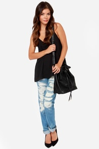 LULUS Exclusive Right Back At It Black Tank Top at Lulus.com!