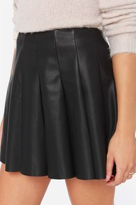 BB Dakota Nynette Vegan Leather Black Mini Skirt at Lulus.com!