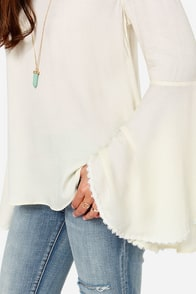 Works Like A Charm Cream Long Sleeve Top at Lulus.com!