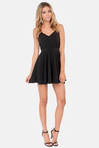 Lucy Love Penelope Black Dress at Lulus.com!