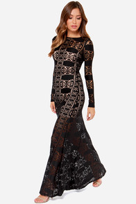 LULUS Exclusive Cut Above the Rest Black Lace Maxi Dress at Lulus.com!
