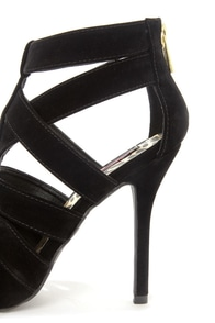 Dollhouse Tricky Black Strappy Pointed Toe Pumps at Lulus.com!