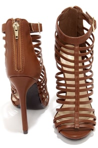 Paprika Julio Tan Caged High Heel Sandals at Lulus.com!