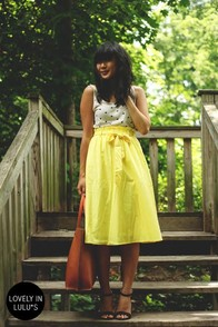Do Or Tie Canary Yellow Midi Skirt at Lulus.com!