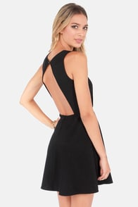 Run the Show Backless Black Dress at Lulus.com!