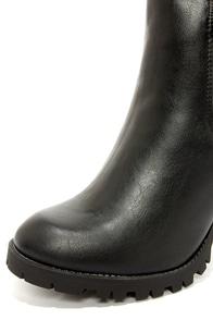 Soda Magic Black High Heel Ankle Boots at Lulus.com!