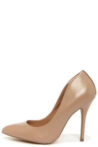 Steve Madden Galleryy Blush Leather Pointed Pumps at Lulus.com!