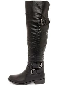 Madden Girl Chrysler Black Over the Knee Boots