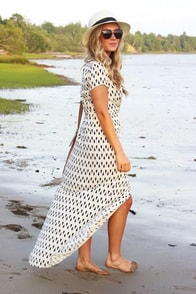 Shapes Travel Cream Wrap Dress at Lulus.com!