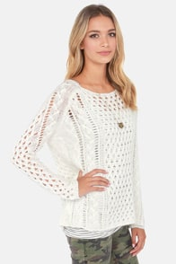 Black Swan Brigade Ivory Sweater at Lulus.com!