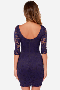 LULUS Exclusive Royal Flush Navy Blue Dress at Lulus.com!