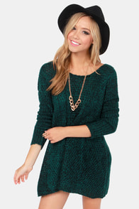 Black Swan Cobain Black and Teal Knit Sweater at Lulus.com!