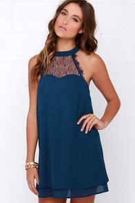 LULUS Exclusive Havana Club Navy Blue Dress at Lulus.com!