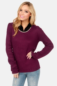Olive & Oak Go-Getter Burgundy Sweater at Lulus.com!