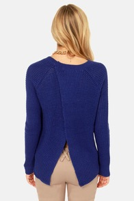 Olive & Oak Honest to Goodness Blue Sweater at Lulus.com!