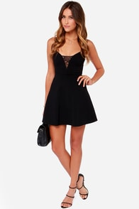 LULUS Exclusive Something I Can Heart Black Dress at Lulus.com!