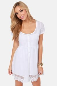 Volcom Little Dove White Dress at Lulus.com!