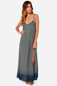 Sprout and About Blue Floral Print Maxi Dress at Lulus.com!