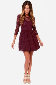 LULUS Exclusive Our Song Burgundy Lace Dress at Lulus.com!
