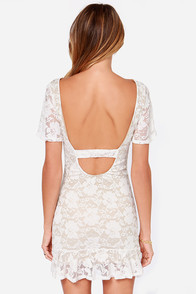 LULUS Exclusive Flutter A Word Ivory Lace Dress at Lulus.com!