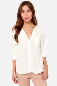 Black Swan Traveler Ivory Top at Lulus.com!