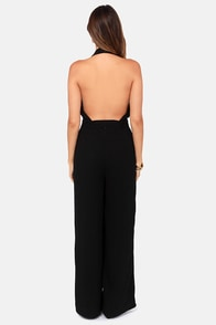 Hop Skip and Jumpsuit Backless Black Jumpsuit at Lulus.com!