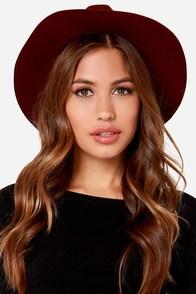 Rhythm The Pocket Burgundy Fedora Hat