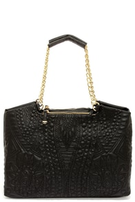 Big Buddha Jodi Black Handbag at Lulus.com!