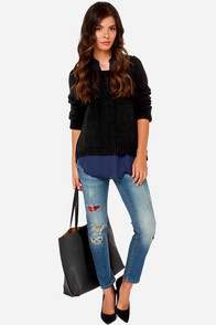 White Crow Outwest Blues Distressed Skinny Jeans