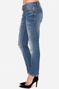 White Crow Outwest Blues Distressed Skinny Jeans at Lulus.com!