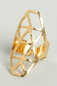 Web of Surprise Gold Ring at Lulus.com!