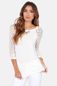Lucy Love Berlin Ivory Tunic Top at Lulus.com!