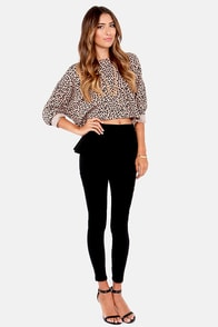 Obey Mellow Mood Animal Print Cropped Sweater at Lulus.com!