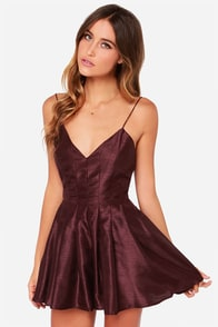 Keepsake Star Crossed Burgundy Romper at Lulus.com!