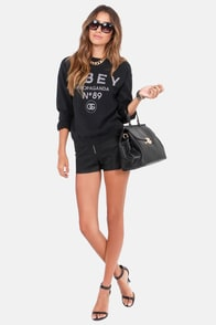 Obey '89 Washed Black Sweatshirt at Lulus.com!