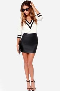 Jack By BB Dakota Fairley Black Vegan Leather Mini Skirt at Lulus.com!