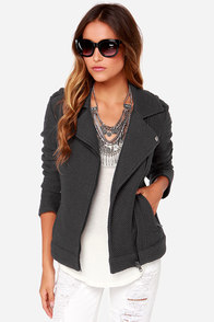 BB Dakota Allesa Grey Sweater Jacket at Lulus.com!