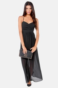 Pleats Don't Leave Black Maxi Dress at Lulus.com!